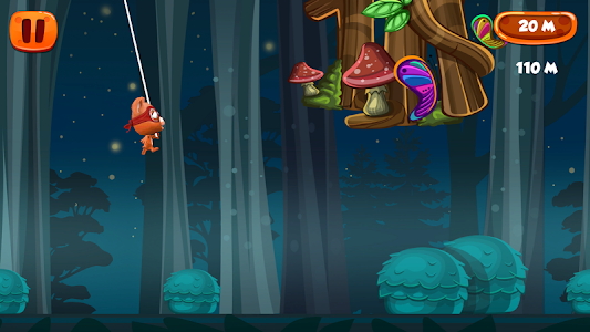 Flying with Rope Bear Game screenshot 3