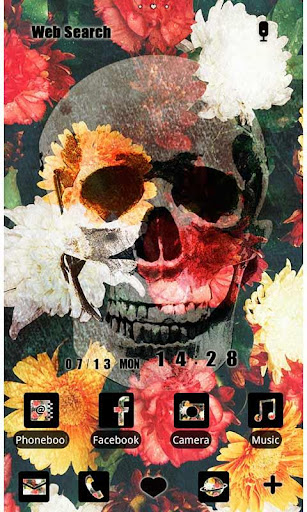 Cool Theme-Flower Skull- 1.0.0 Windows u7528 1