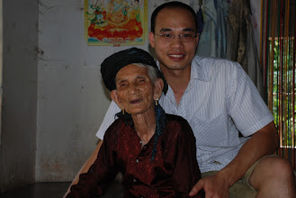 Photo: Grandma was very tired when I got back to the village. Unlike how she looks in the photo, she actually was in a very good spirit. Most of all, she still knows how to have good time: She always has a good colection of booze in her drawer, supplied frequently by my older brother, who goes back to the village once in a while and have a drink with her. I wish I could do the same. Each time I see her, each time I am afraid that it would be the last time. She's 95-ish. Grandparents are the oldest people of the village.