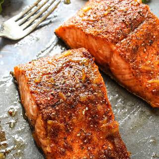 Orange Glazed Cajun Salmon.