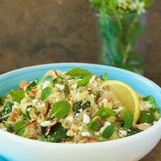 Lemon Quinoa Salad with Fresh Herbs and Feta.