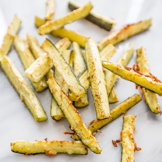 Paleo Garlic Parmesan Zucchini Fries.