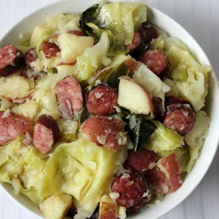 Steamed Cabbage With Smoked Sausage & Red Potatoes.