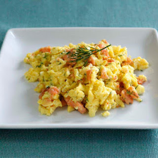 Smoked Salmon Goat Cheese Scramble