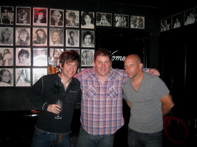 Photo: At The Comedy Store with former SNL cast member Jeff Richards.
