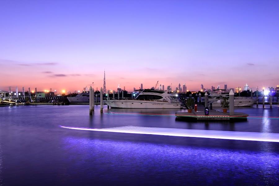 Sunset by Joy Dasgupta - City,  Street & Park  Vistas