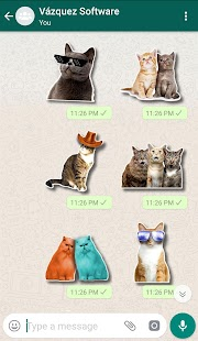 WAStickerApps Cats Screenshot