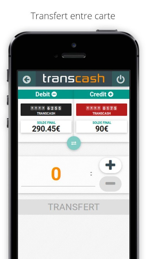 TRANSCASH VISA- screenshot