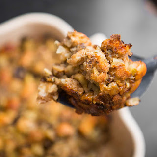 Prune and Apple Stuffing With Sausage and Chestnuts