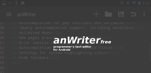 anWriter free HTML editor 1 8 3 2 apk download for Android • com