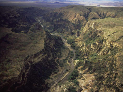 The Rift Valley still has minor rifts that may have absorbed the water