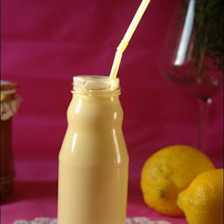 Lemon Curd Liquid Yogurts.