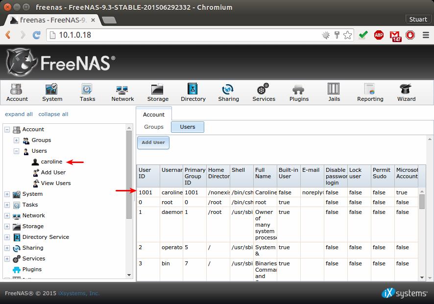 FreeNAS - Create A Windows User | Programster's Blog