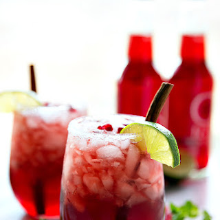 Sparkling Cranberry Pomegranate Drink (Video)