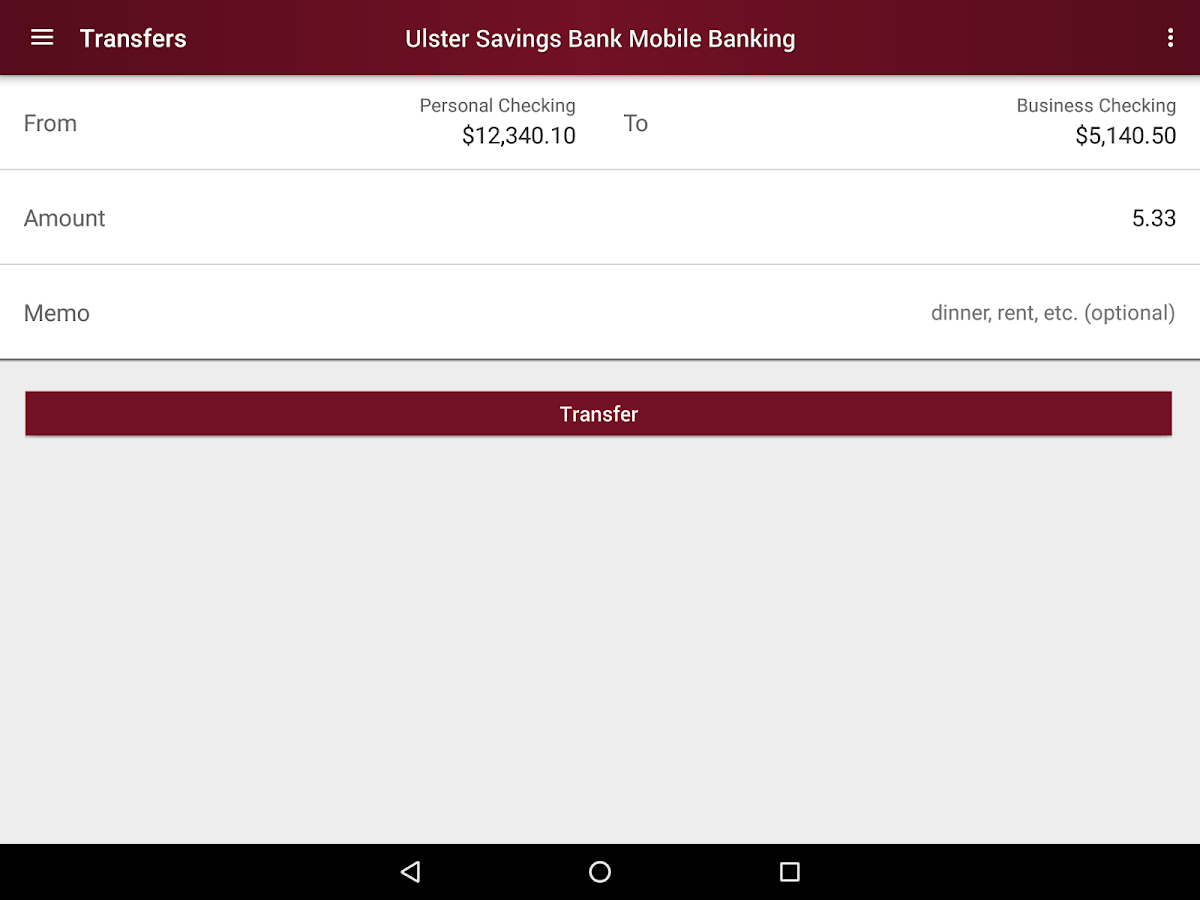 Ulster Savings Bank- screenshot
