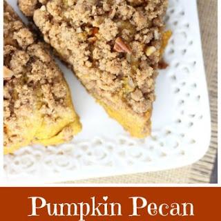 Pumpkin Pecan Scones with Brown Sugar Streusel Recipe