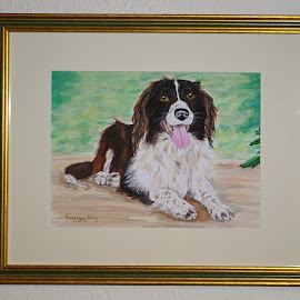 Charlie Girl - Framed at last by Ingrid Anderson-Riley - Painting All Painting