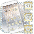 Luxury Gold & Silver Launcher Theme download