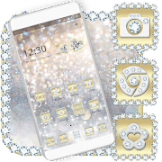Luxury Gold & Silver Launcher Theme