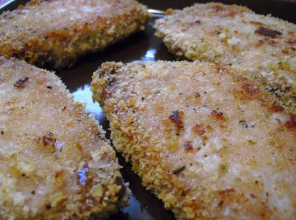 Baked Parmesan Encrusted Pork Chops