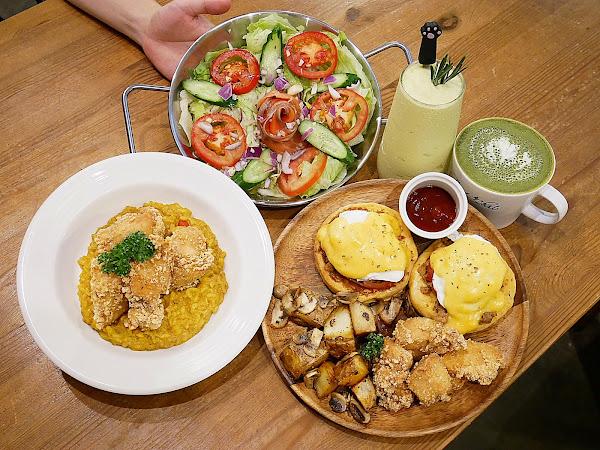 Toast Chat - 台北東區不限時咖啡廳,同時也是一家貓咪餐廳,主打義式燉飯和多款早午餐,炸雞超多汁每次吃必點,快點一起來吸貓!!