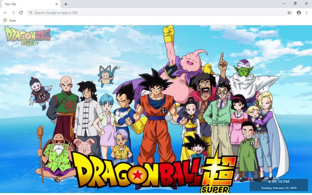 Dragon Ball Super New Tab Theme