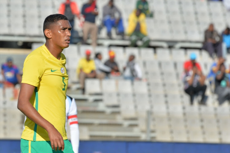 Bafana Bafana stand-in captain Mario Booysen during the CHAN 2018 Qualifying - 2nd Leg match between South Africa and Botswana at Moruleng Stadium on July 22, 2017 in Rustenburg, South Africa.