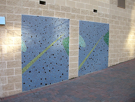 Two panels of Continuum by Tom Ashcraft and David Chung. Photo courtesy of Arlington County