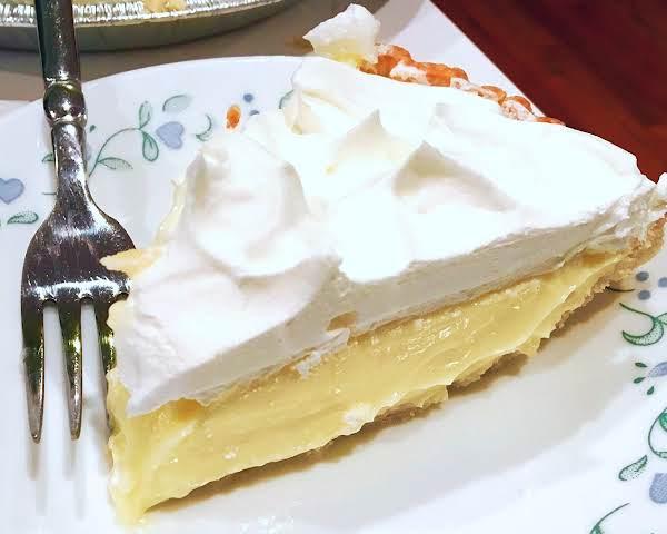 ~ Satiny Lemon Cream Pie ~ Recipe