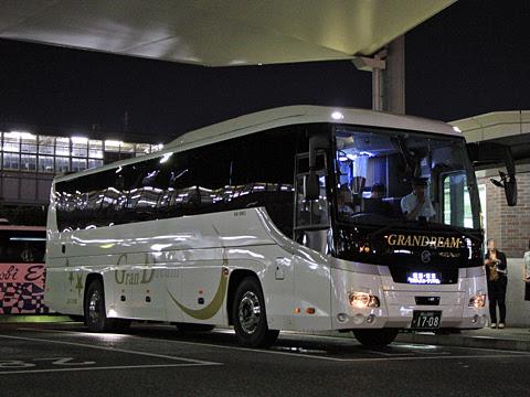 中国JRバス「グランドリーム横浜・東京/岡山号」 岡山1708