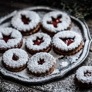 Christmas Jam Cookies.