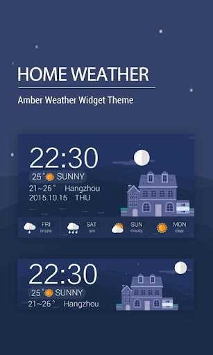 Weather clock widget free