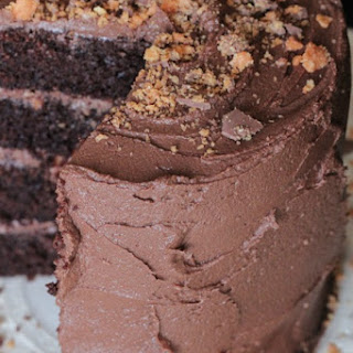 Double Chocolate Butterfinger Layered Cake.
