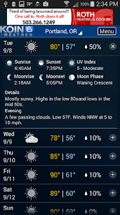 PDX Weather - KOIN Portland OR- screenshot thumbnail