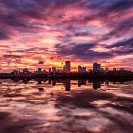 Woodlands Waterfront by Sam Song - Landscapes Sunsets & Sunrises