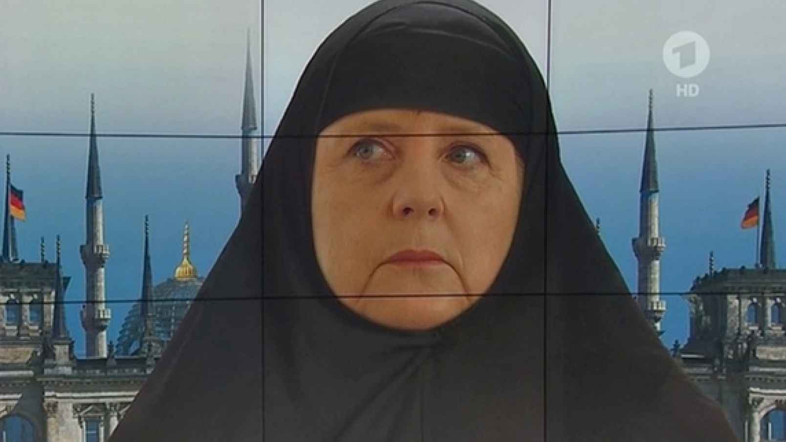 Two faces of German Chancellor Merkel