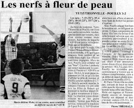 Photo: 11-12-95 N2F le derby a tenu les spectateurs en haleine 3-2 pour l'ASVB