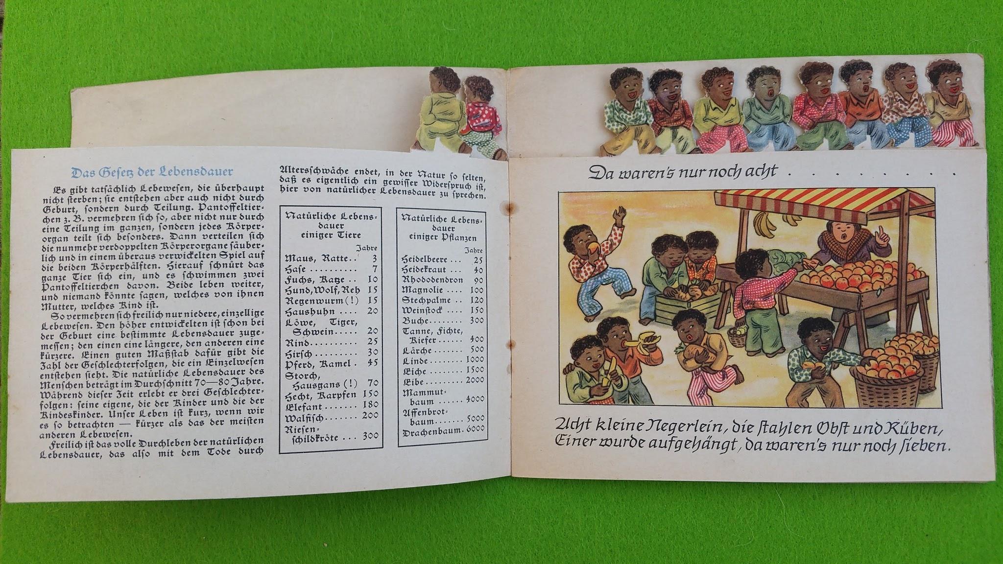 Zehn kleine Negerlein - Prospekt der Allianz und Stuttgarter Lebensversicherungsbank AG - 1939