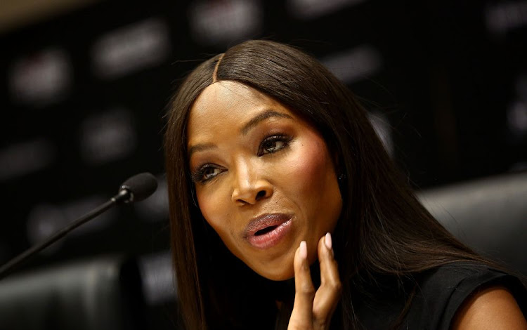 International model and producer of Global Citizen Festival, Naomi Campbell addresses the media about the Global Citizen Festival that will be taking place on 2 December at FNB Stadium