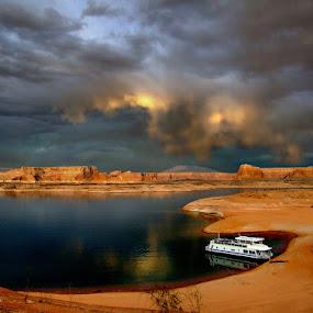 ~dark skies~ by Kirk Kimble - Landscapes Travel ( vacation, lake powell, houseboat, arizona )