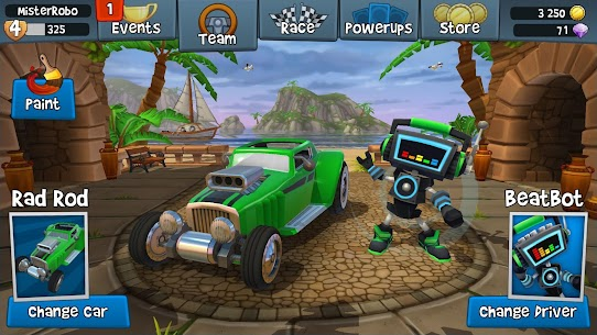 Beach Buggy Racing 2 MOD Apk (Free Shopping) 4