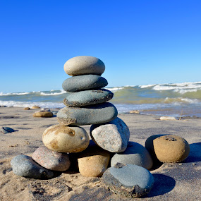 Cairn by Jeff Sluder - Artistic Objects Still Life ( lake michigan 2016,  )