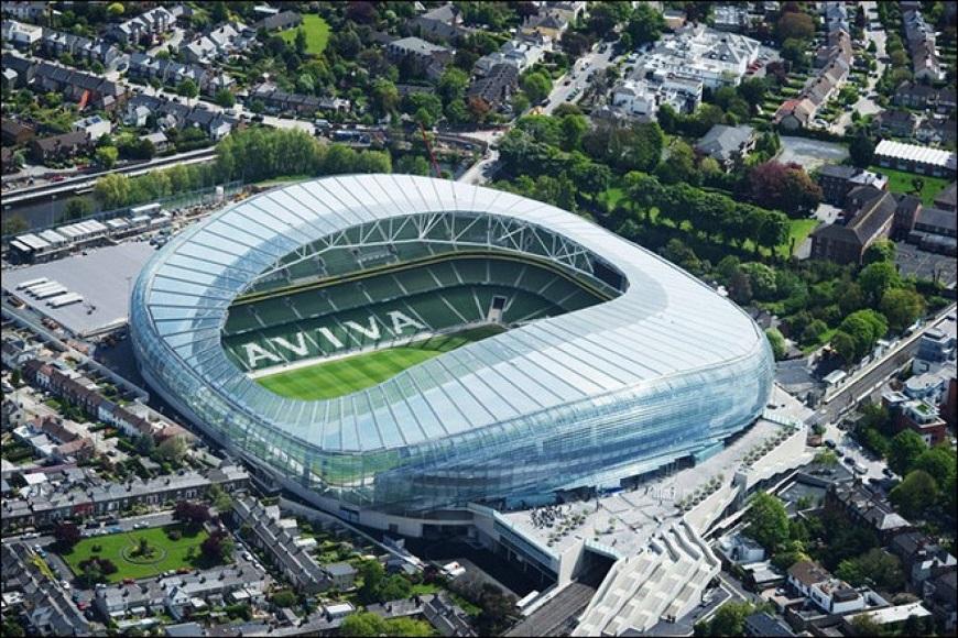 Mái che hình vòm cung cho sân vận động