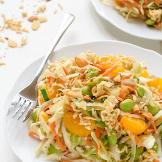 Healthy Asian Ramen Salad.