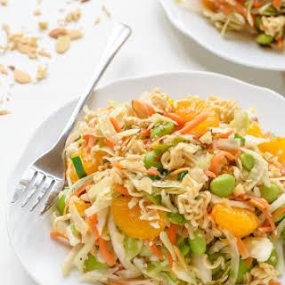 Healthy Asian Ramen Salad.