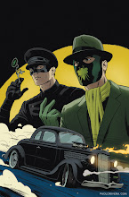 Photo: THE GREEN HORNET #8 COVER. 2013. Ink(ed by Joe Rivera) on bristol board with digital color, 11 × 17″.