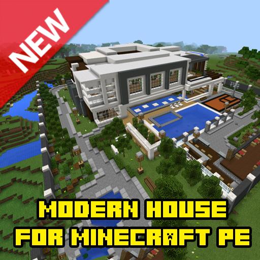 Modern house for MCPE