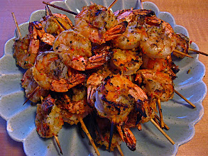 Photo: grilled hot herbed prawns