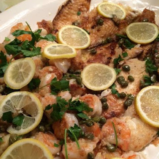 Tilapia, Shrimp & Scallops Francaise