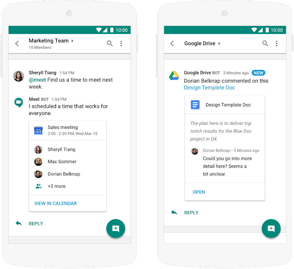 Google Workspace Calendar and Drive